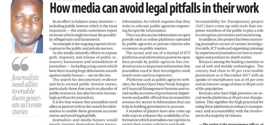 How media can avoid legal pitfalls in their work