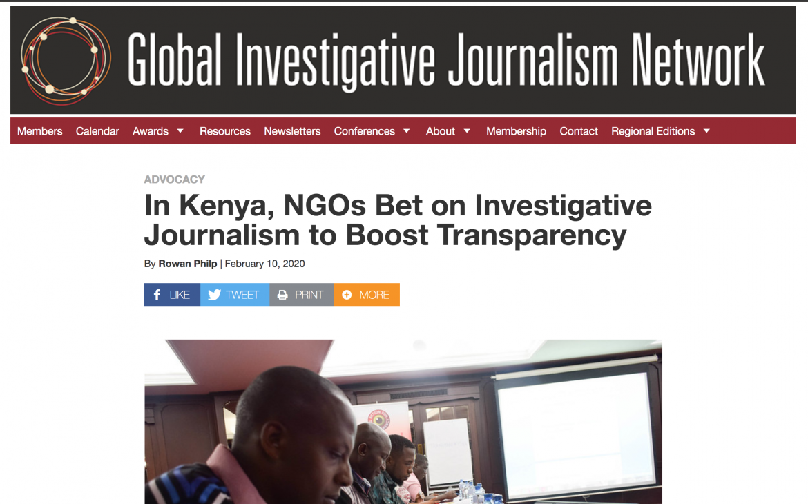 We were featured at the Global Investigative Journalism Network