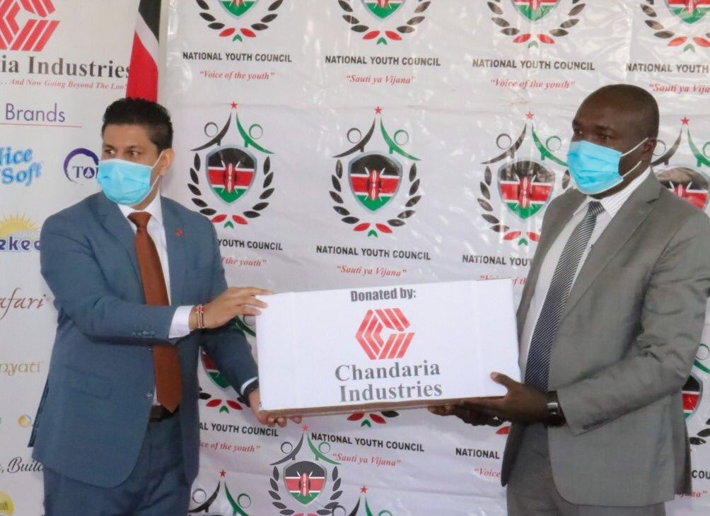 Chandaria Industries donates goods worth Ksh.2.7 million