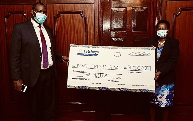 Letshego Group Donates Ksh. 1 Million to support KENYAN national effort against COVID