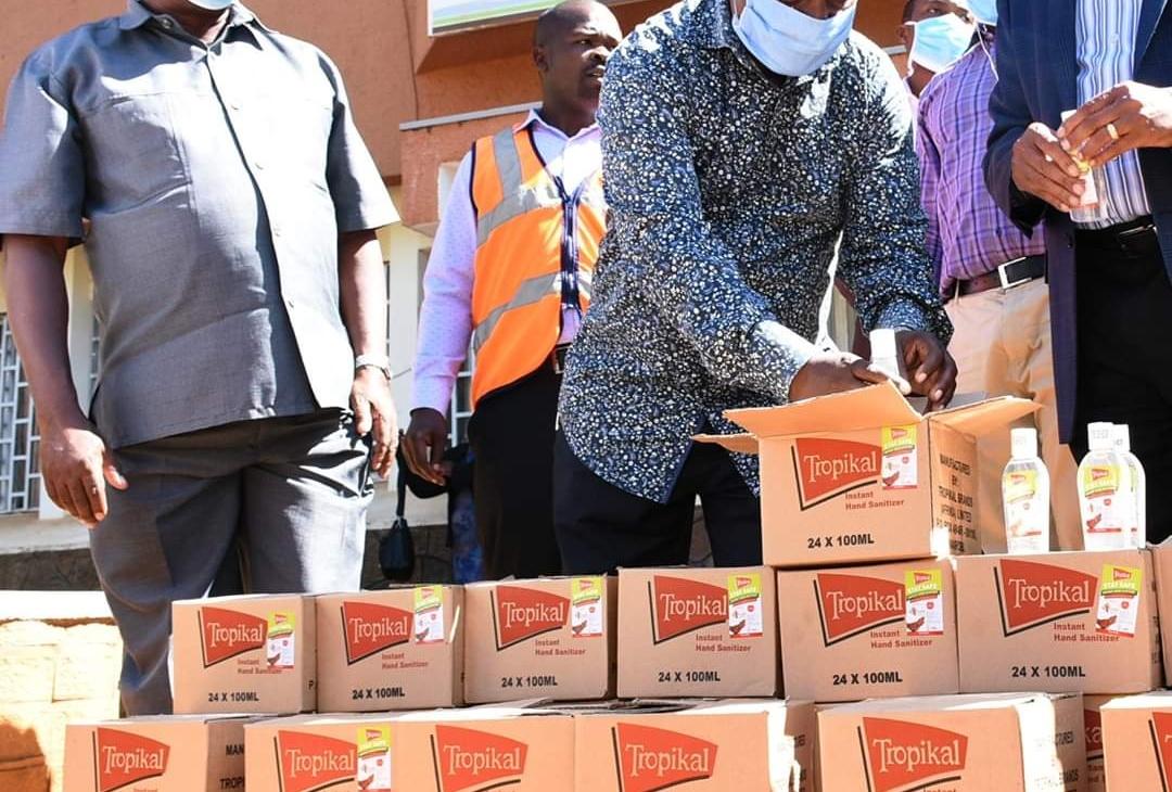 Boost Against COVID 19 as Kenya Breweries Ltd Donates Sanitizers