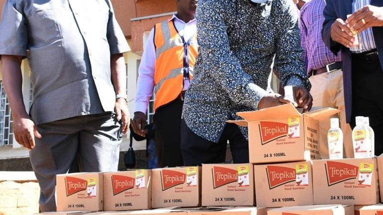 Boost Against COVID 19 as Kenya Breweries Ltd Donates Sanitizers