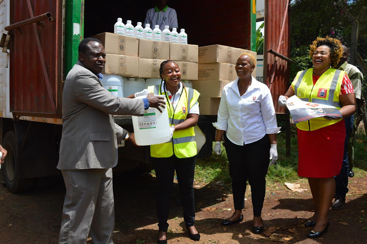 Kenya Pipeline, EABL donate sanitisers to Kiambu residents