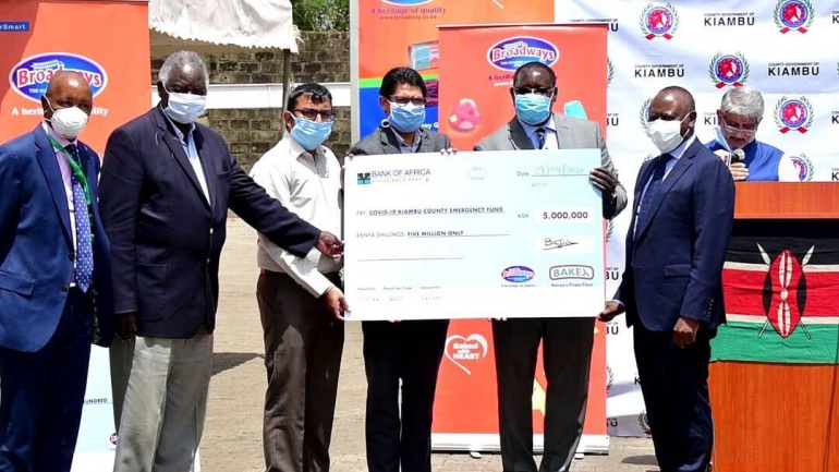 Broadway Group of Companies Donates KES 5M Towards COVID-19 Kitty