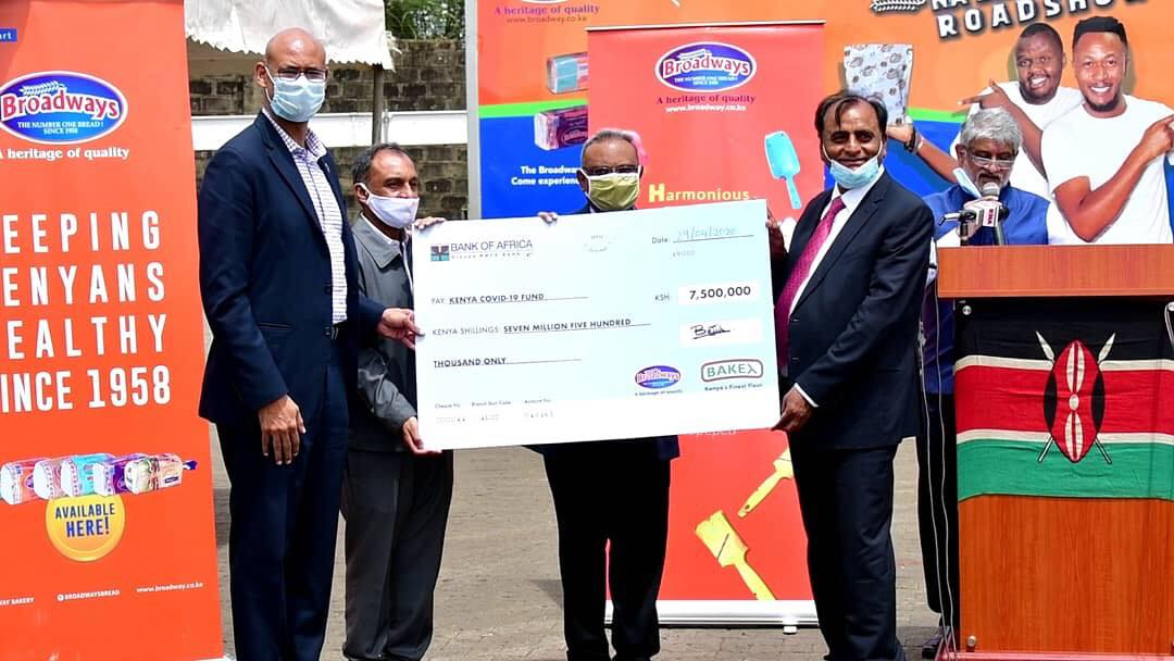 Broadway Group of Companies Donates KES 20M Towards COVID-19 Kitty