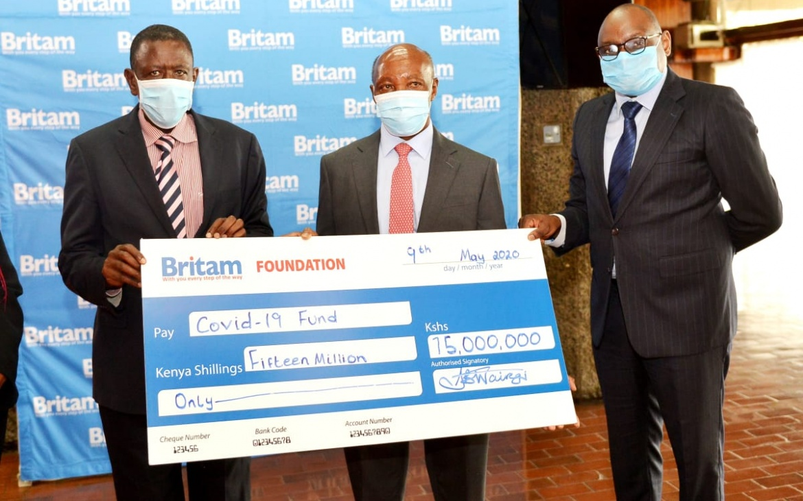 Britam Donates Shs15 Million to COVID-19 Emergency Response Fund