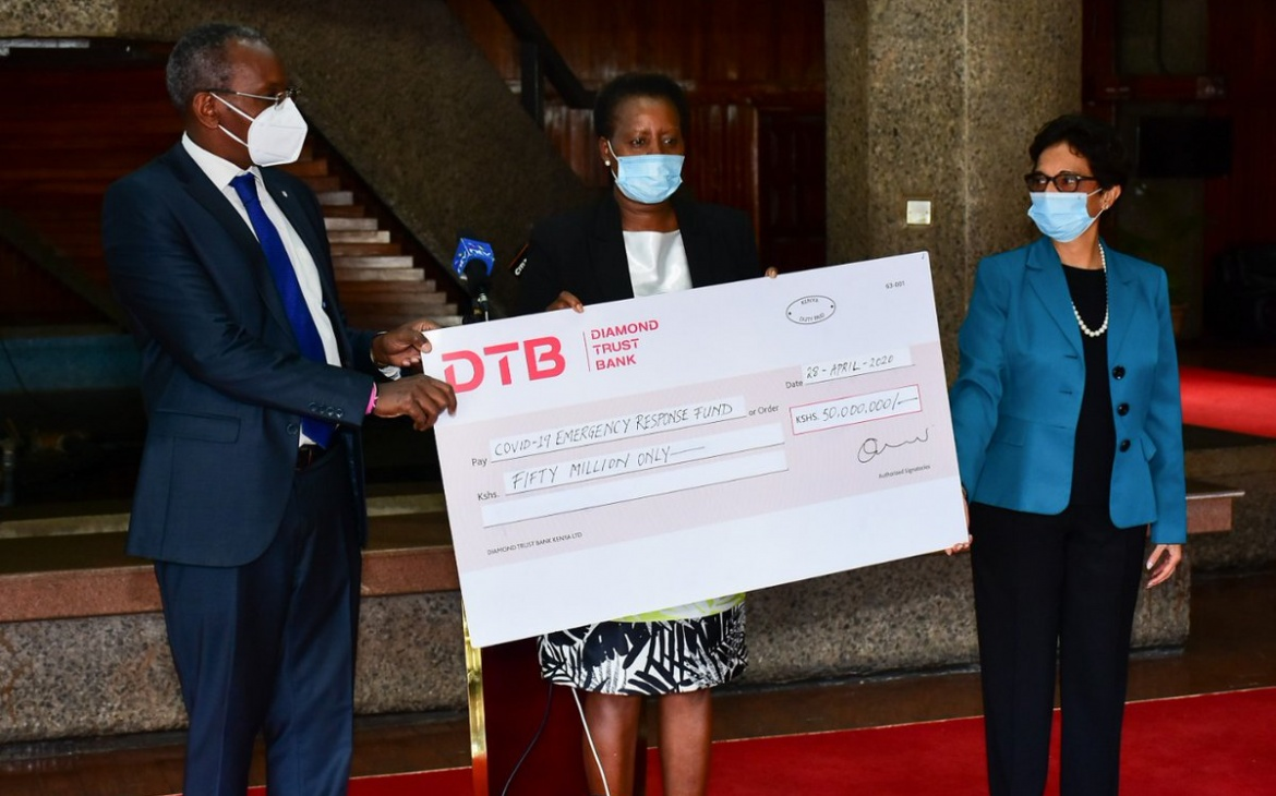 DTB commits Ksh.100 million to COVID-19 emergency relief