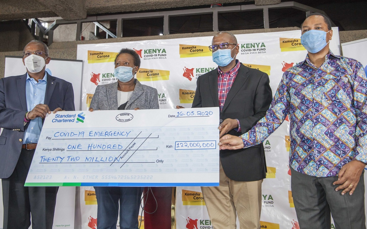 Stanchart Gives Sh 122 million to Virus Fund