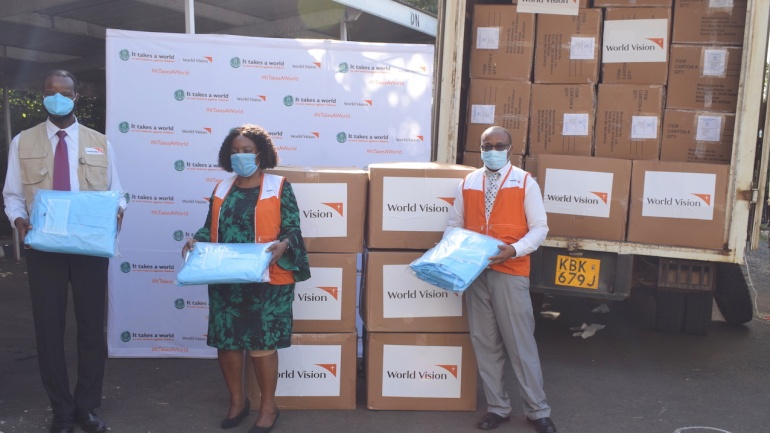 World Vision Donates Medical Items Worth Ksh 50m to Kenya's COVID-19 Fight