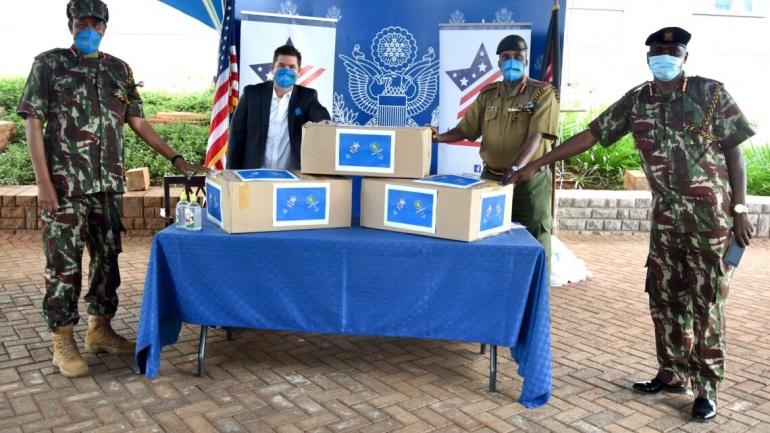 United States Donates Facemasks to the Kenyan Border Police Unit