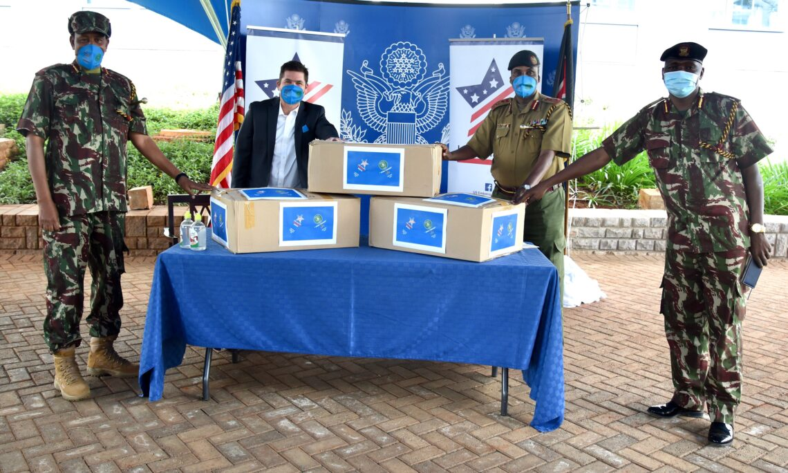 United States Donates Facemasks to the Kenyan Border Police Unit