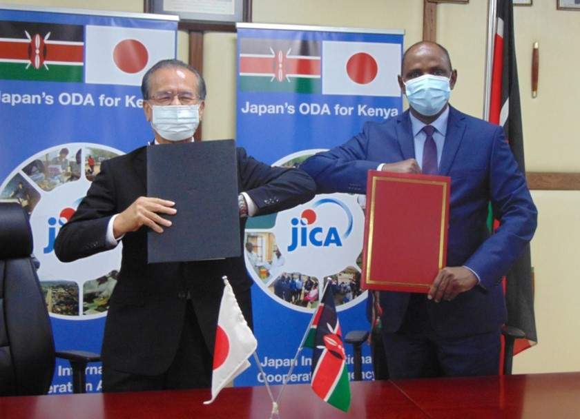 "On 27th in the morning, H. E. Mr. HORIE Ryoichi, Ambassador of Japan to Kenya signed the Exchange of Notes, titled, ""Health Sector Policy Loan for Attainment of the Universal Health Coverage (Phase 2)"" with Hon."